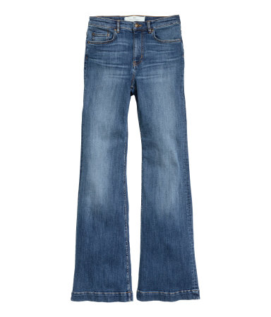 Flared highwaisted jeans hm